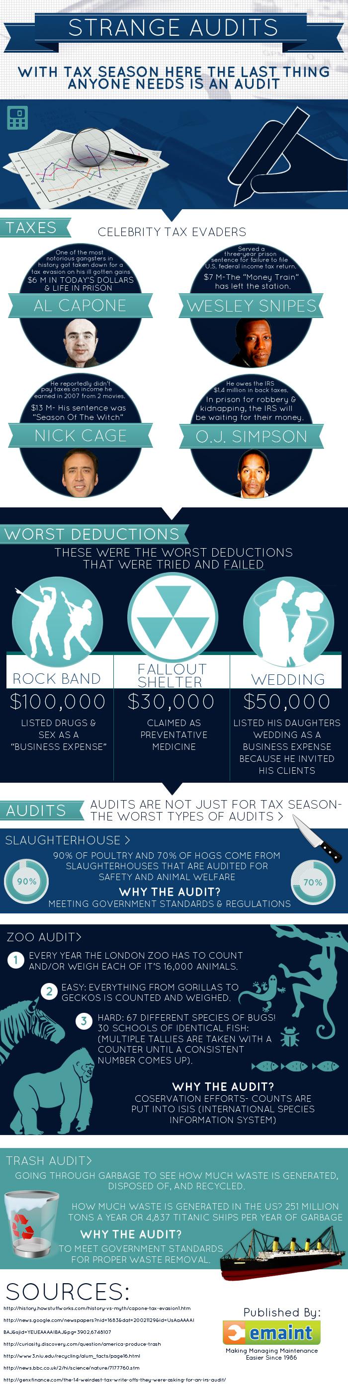Strange Audits Infographic