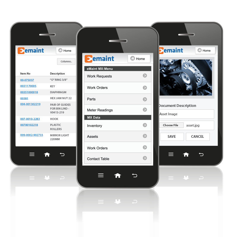 eMaint Mobile Features